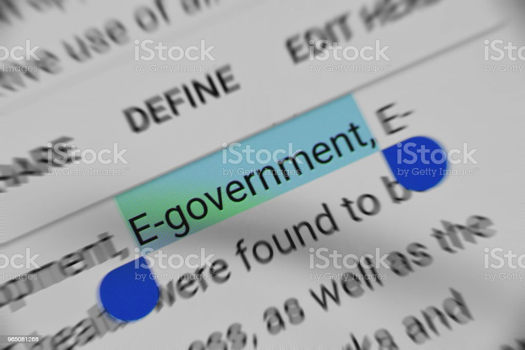 E- Government text selection online royalty-free stock photo