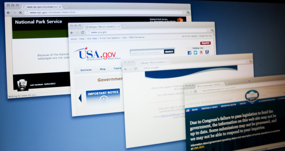 Usa Government Websites Stock Photo - Download Image Now