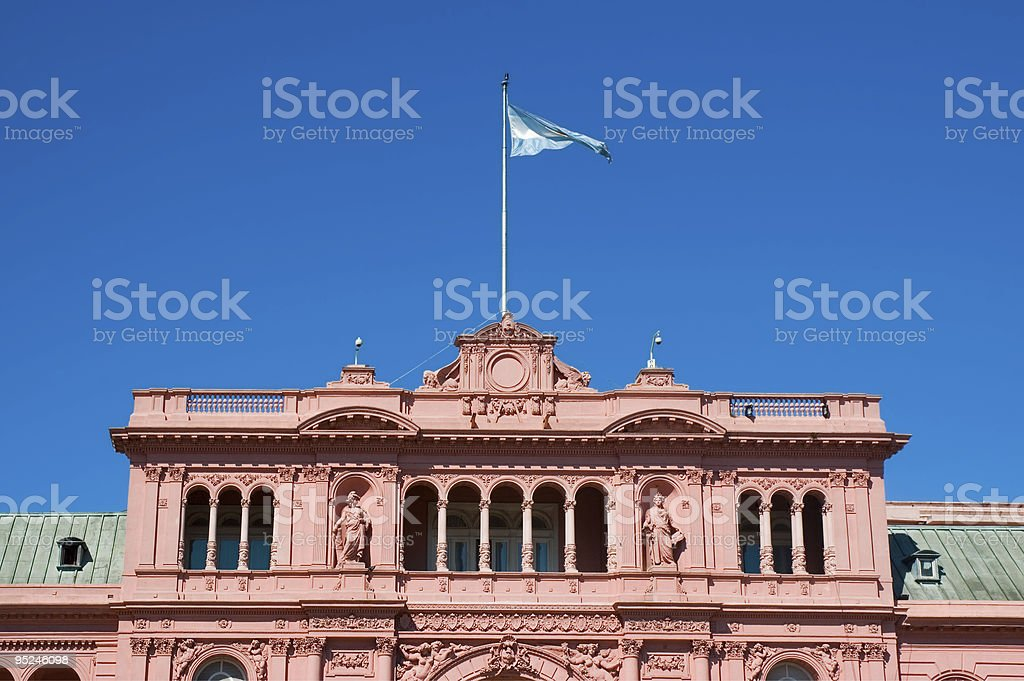 Governmet's house, Argentina. royalty-free stock photo