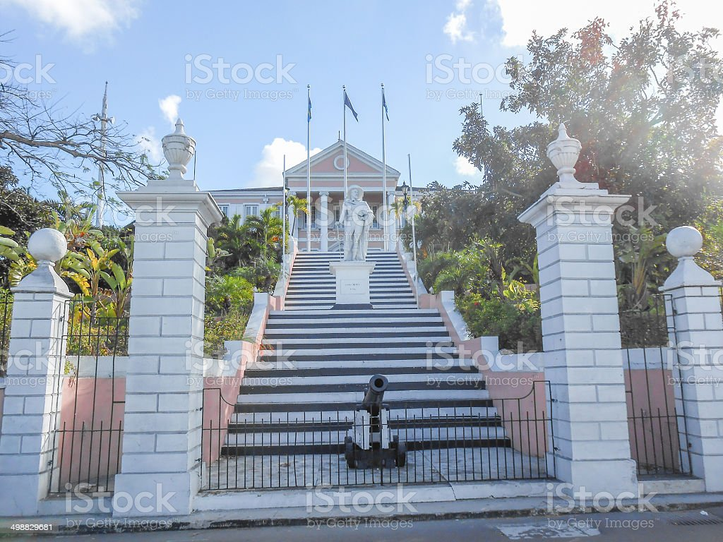 Governor House in Nassau USA stock photo