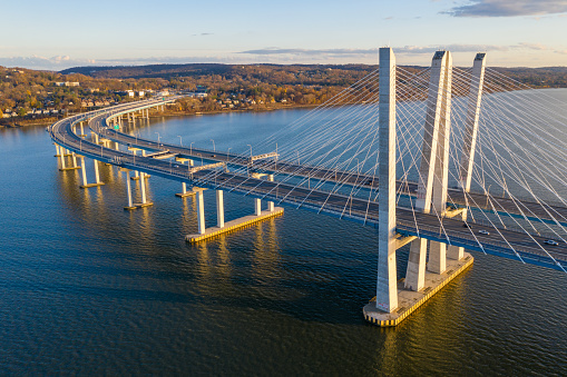 The New Tappan Zee Bridge (The Governor M. Cuomo) spanning the Hudson River in New York.