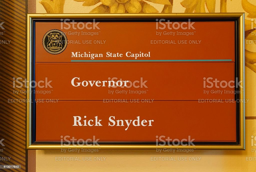 Governor Rick Snyder's Office, Michigan stock photo