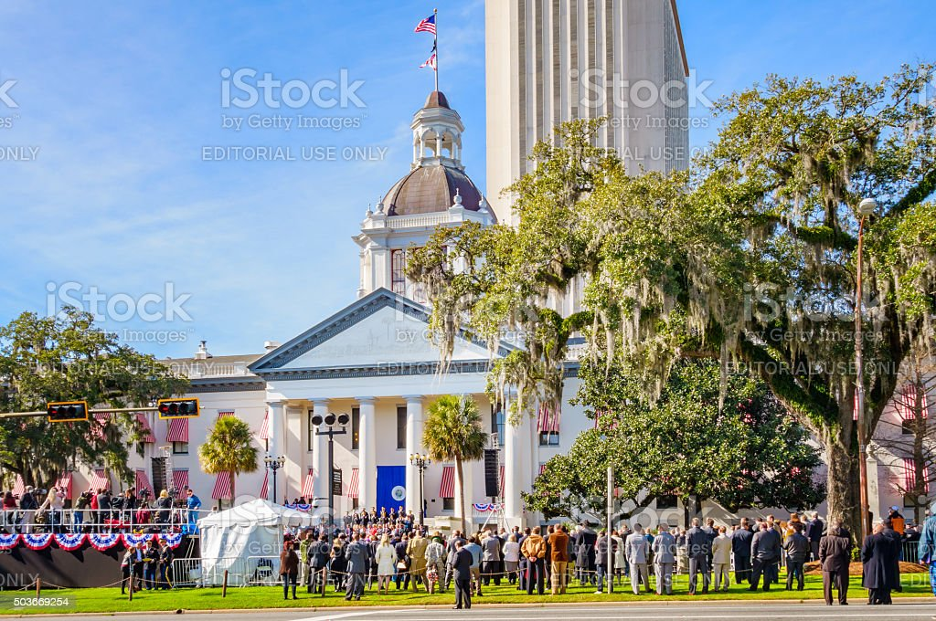 Governor Swearing-In Ceremony Tallahassee Florida USA stock photo