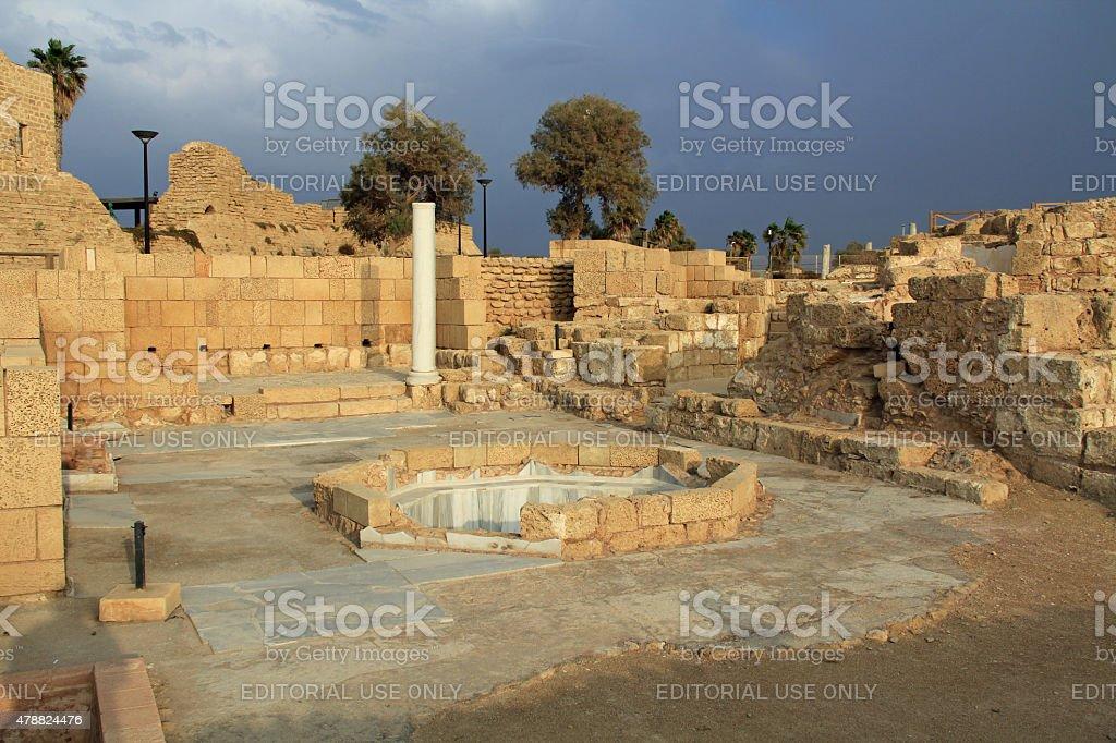 Governors Bathhouse Caesarea Maritima National Park stock photo