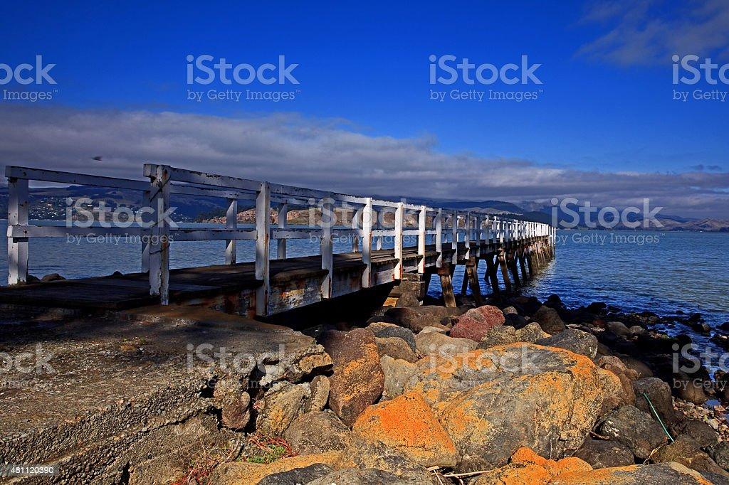 Governors Bay Wharf stock photo