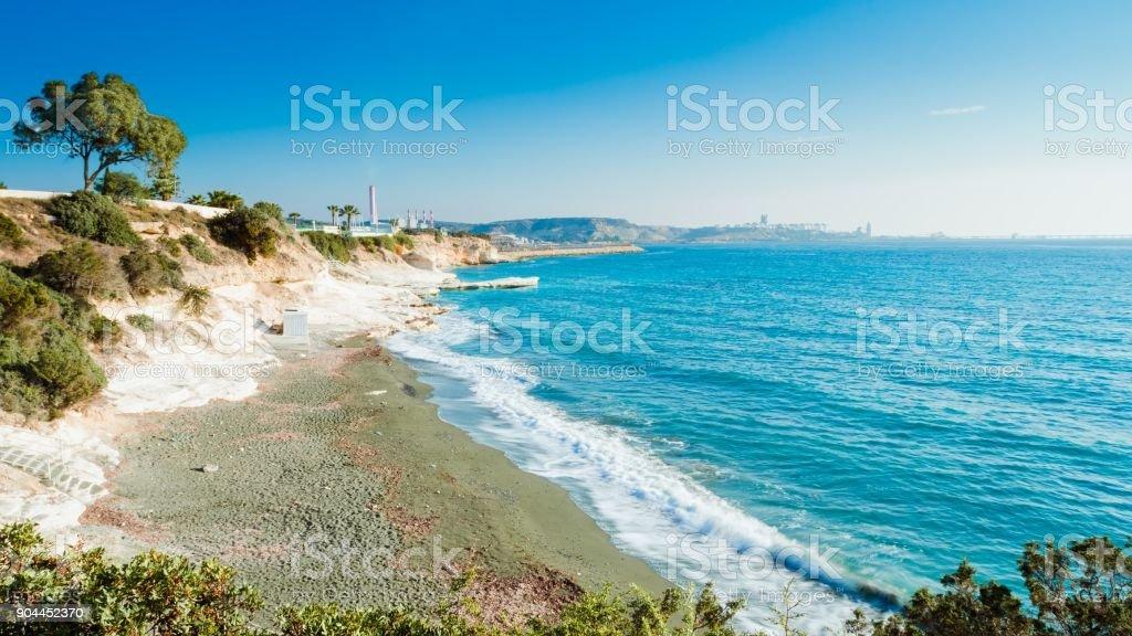 Governor es Beach, Limassol - Lizenzfrei Blau Stock-Foto