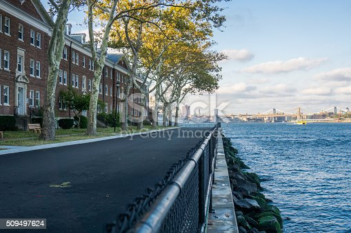 Photo of Downtown NYC, Brooklyn Bridge and Lower East Side from Governor's Island summer of 2015.