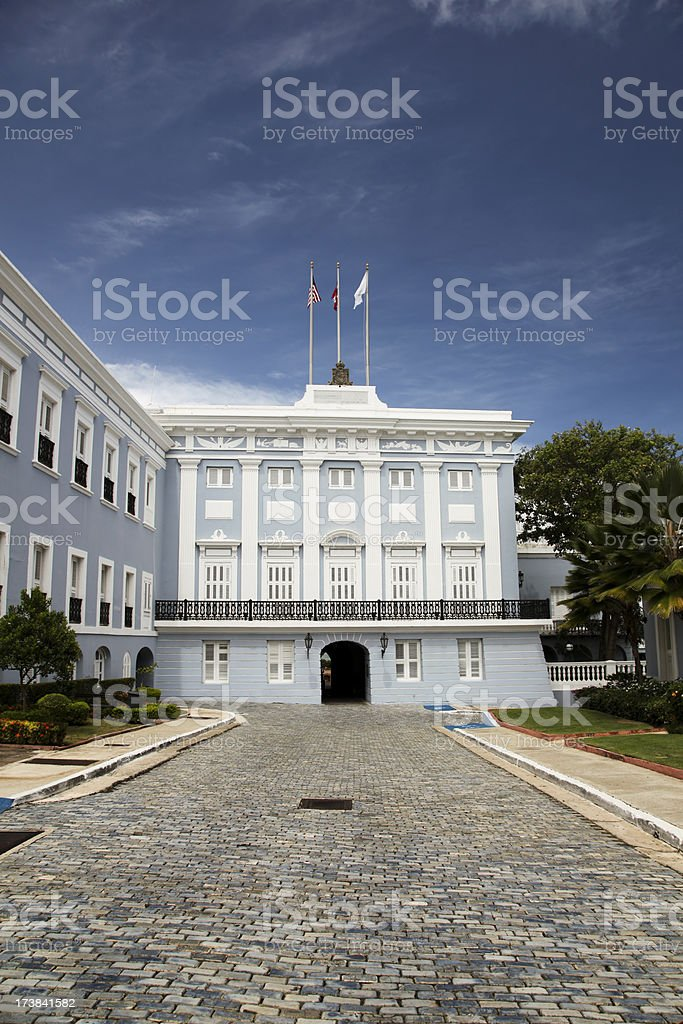 Governors Mansion, Puerto Rico stock photo