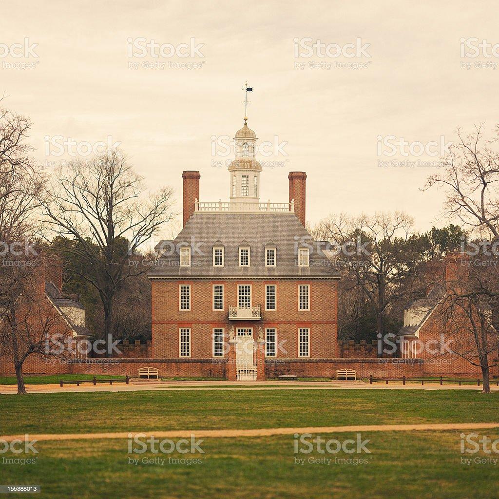 Governor's Mansion Williamsburg stock photo