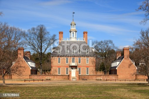 Historic Governor's Palace in Colonial Williamsburg, Va.