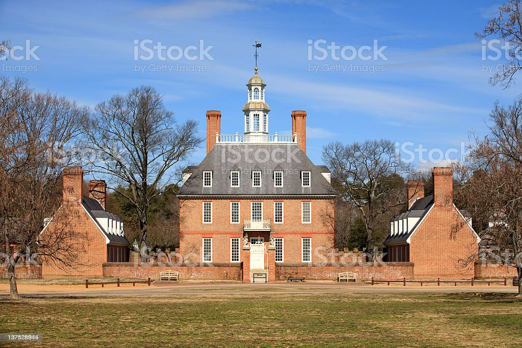 Governor's Palace in Williamsburg, Va stock photo