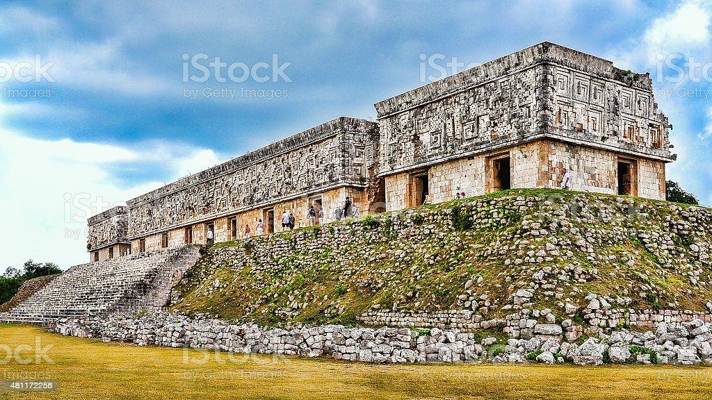 Governor's Palace - Uxmal, Mexico stock photo
