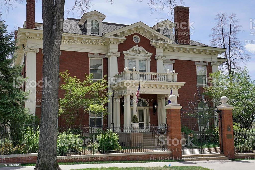 Governor's Residence, Denver stock photo