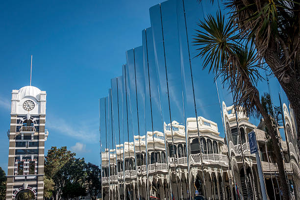 govett-brewster art gallery in new zealand - nzgmw2017 stock pictures, royalty-free photos & images