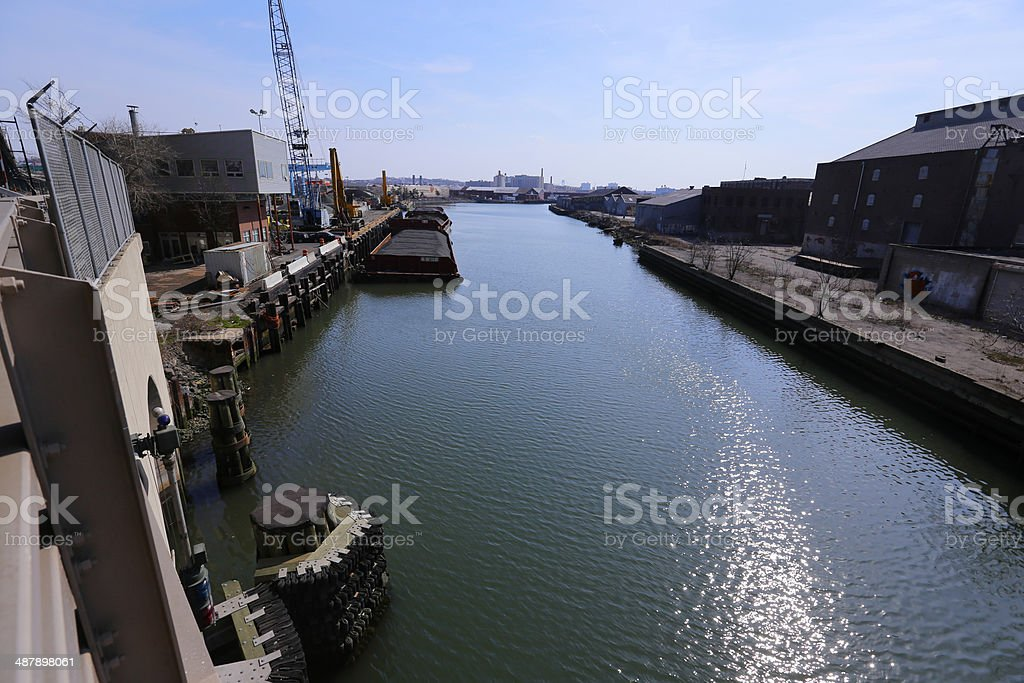 Gowanus Canal, Brooklyn stock photo