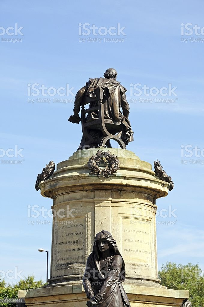 Gower memorial, Stratford-upon-Avon. stock photo