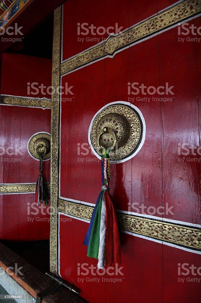 Głowna brama świątyni Rumtek stock photo