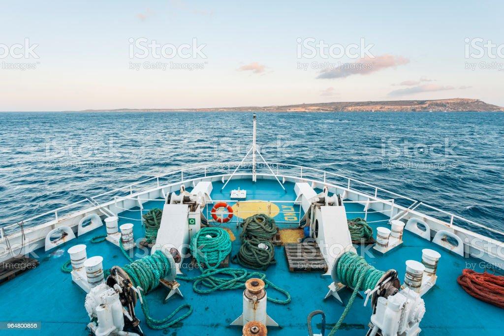 Gozo Channel ferry transport to Gozo Island, Malta royalty-free stock photo