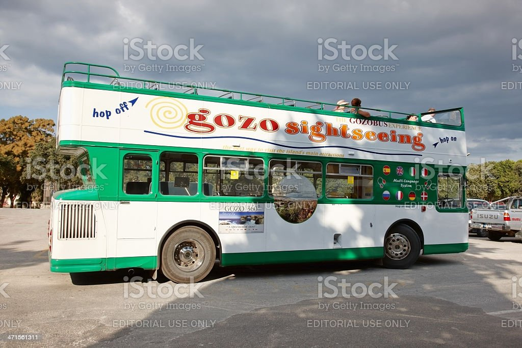 Gozo tourist bus stock photo
