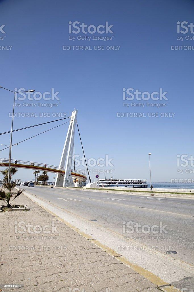 goztepe cityline ferry port and bridge royalty-free stock photo