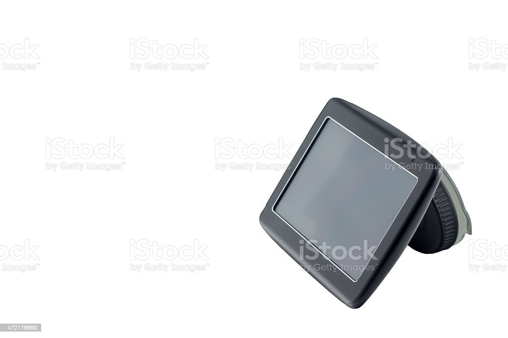 Gps navigation isolated side view stock photo