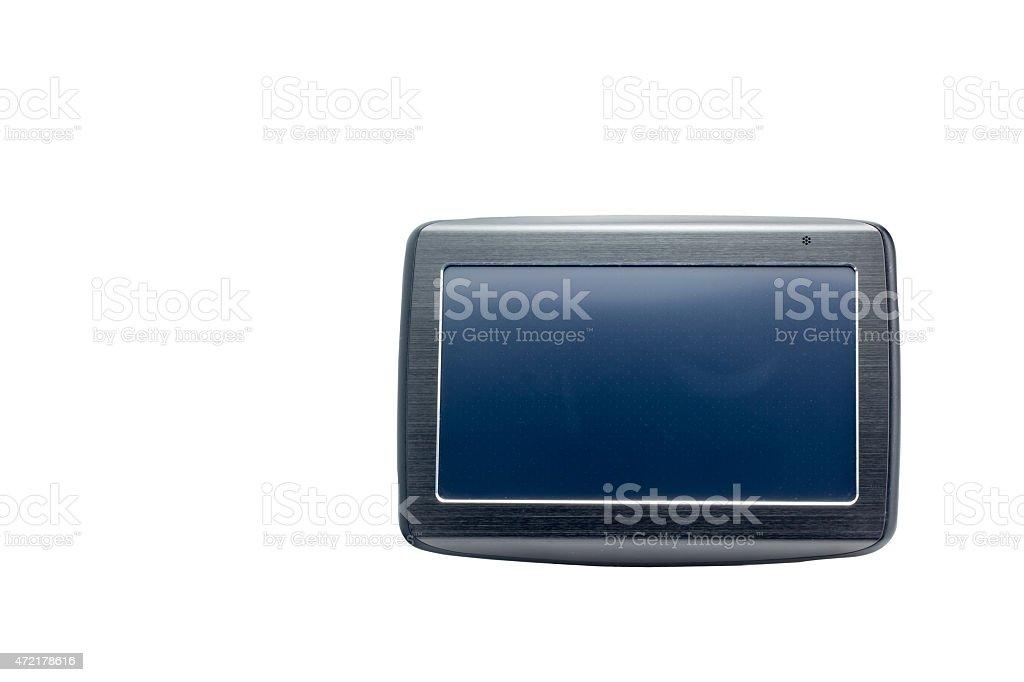Gps navigation on white isolated background stock photo