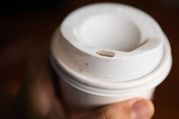 Grab a coffee stock photo