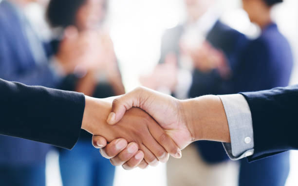 Grab profitable deals with both hands stock photo