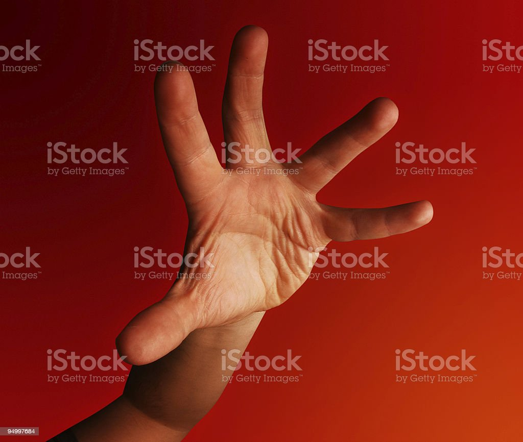 Grabbing hand stock photo