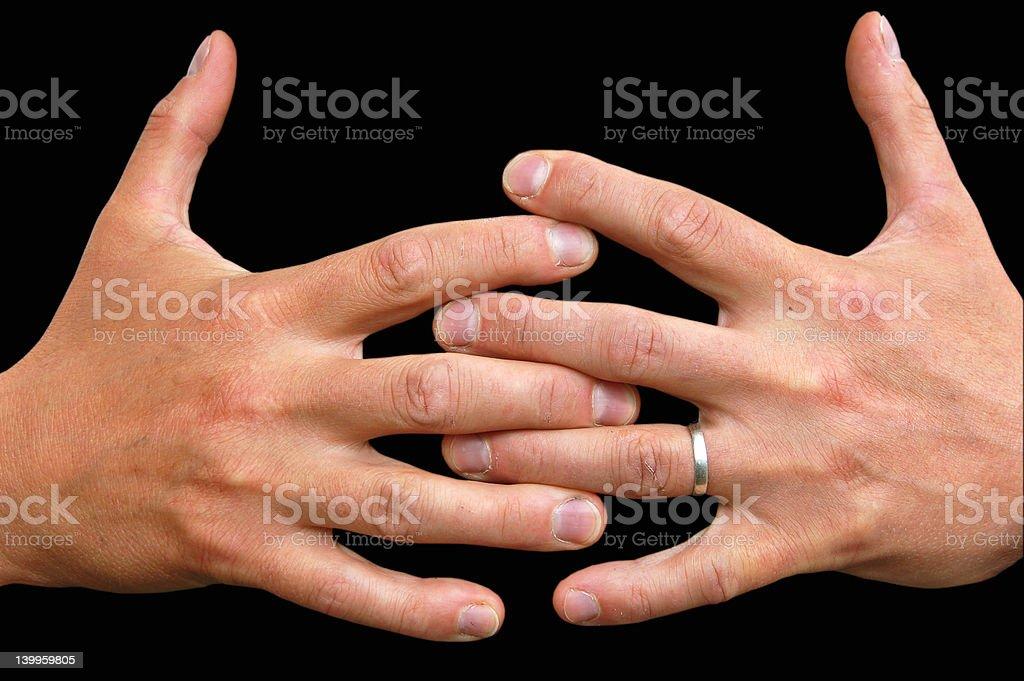 Grabbing hands stock photo