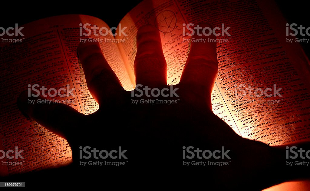Grabbing the knowledge royalty-free stock photo