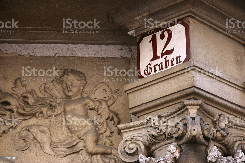 Graben - famous street in Vienna royalty-free stock photo