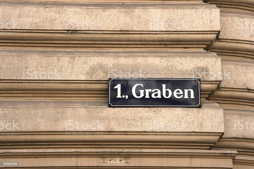 Graben street royalty-free stock photo