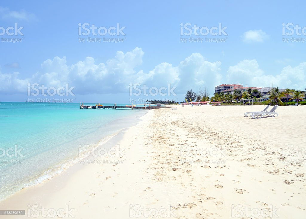 Grace Bay Beach in the Turks and Caicos Islands stock photo