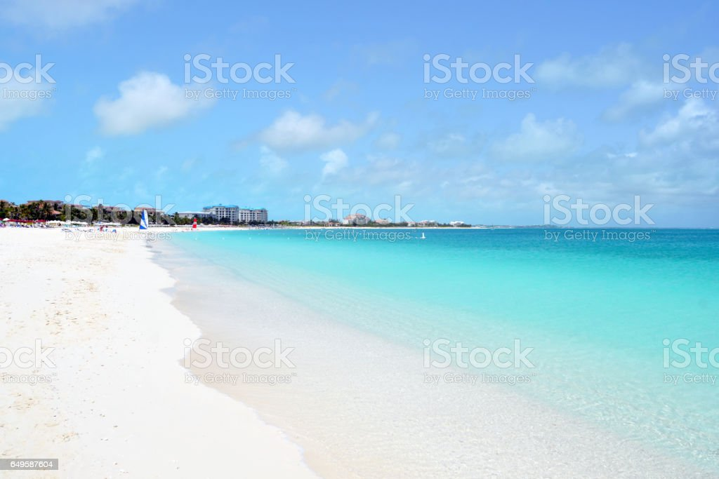 Grace Bay Beach in the Turks and Caicos stock photo