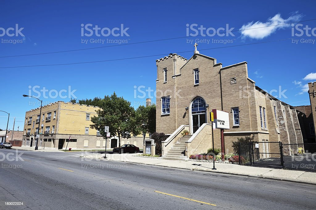 Grace English Lutheran Church in Belmont Cragin, Chicago royalty-free stock photo