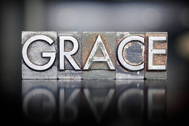 Grace Letterpress The word GRACE written in vintage letterpress lead type grace stock pictures, royalty-free photos & images