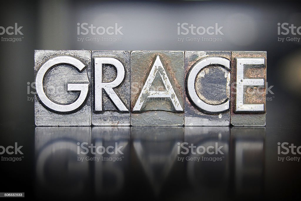 Grace Letterpress stock photo