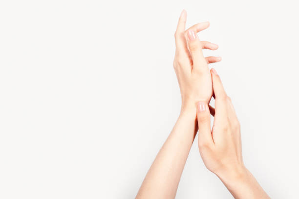 Graceful Hands stock photo