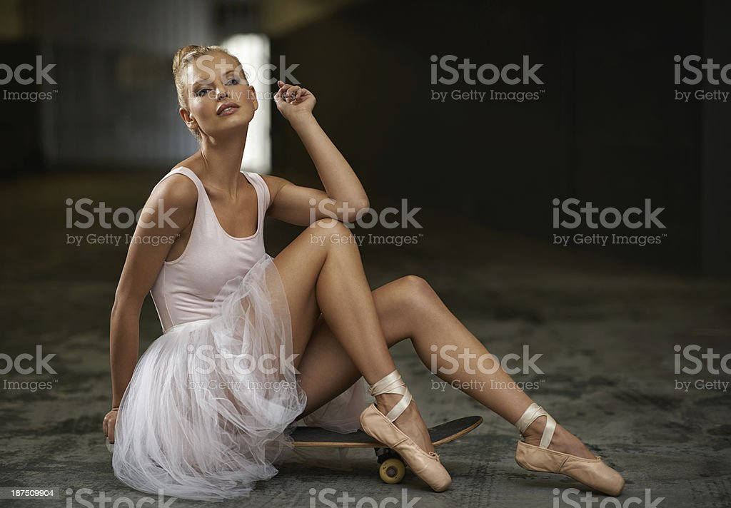 Graceful with grit stock photo