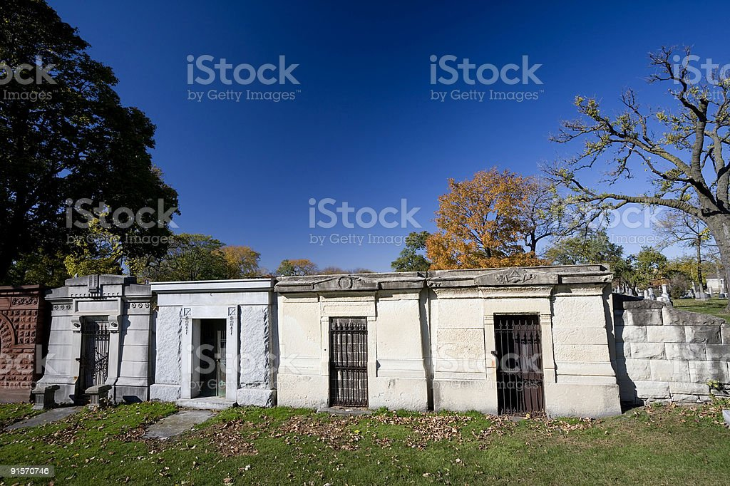 Graceland Mausoleums royalty-free stock photo