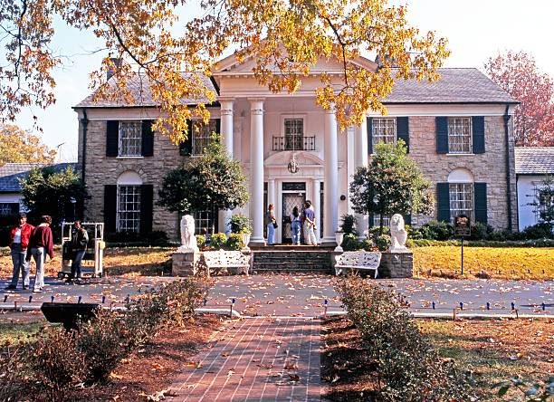 graceland, memphis. - elvis stock photos and pictures