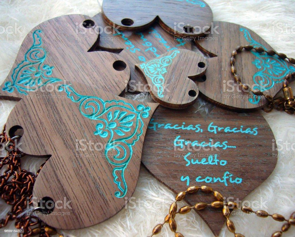 Gracias, gracias, gracias... Corazones artesanos míos Decoration Stock Photo