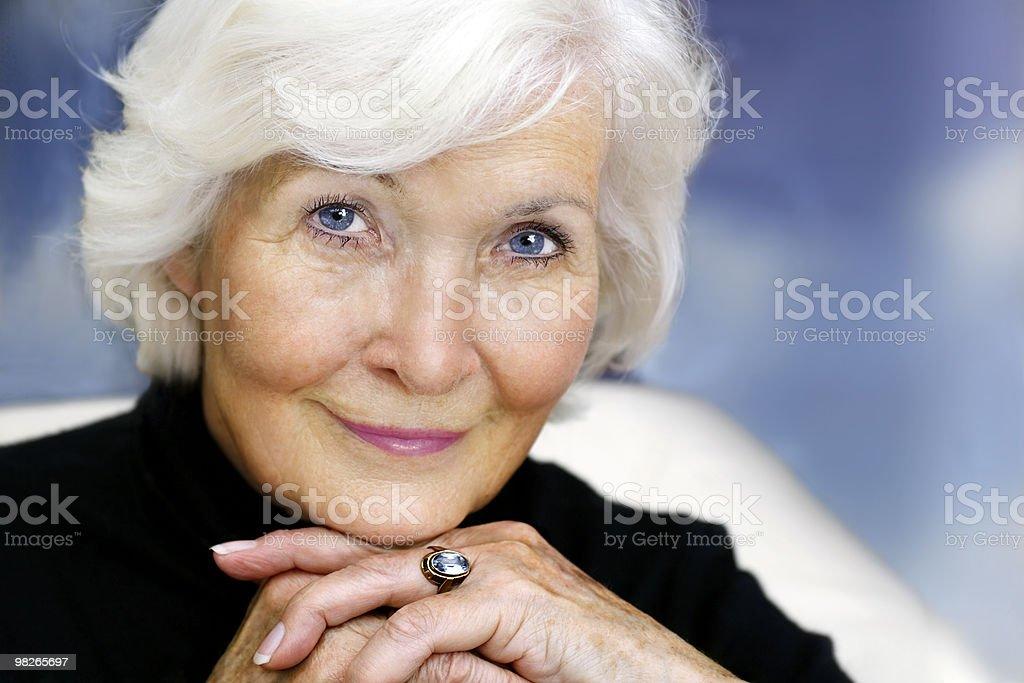Gracious senior lady royalty-free stock photo