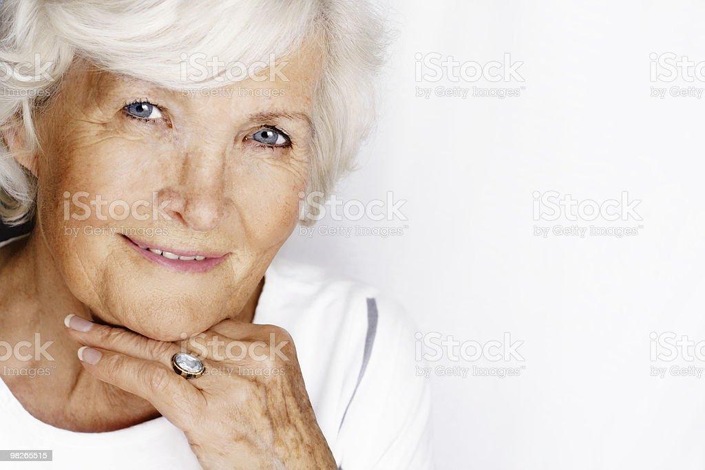 Gracious senior woman royalty-free stock photo