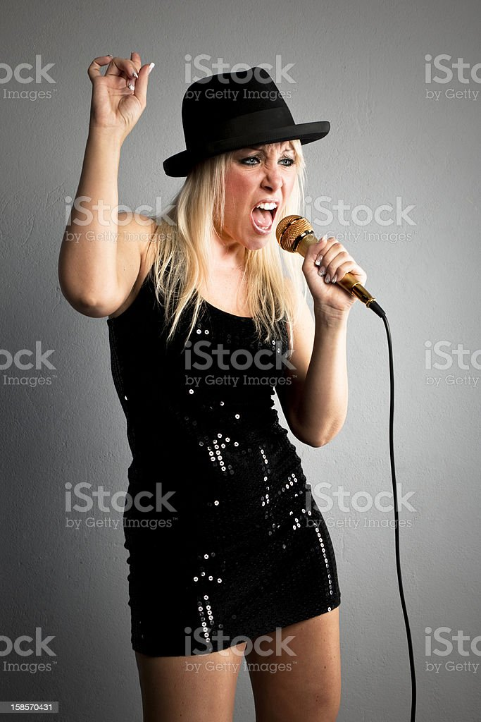 Gracy female musician stock photo