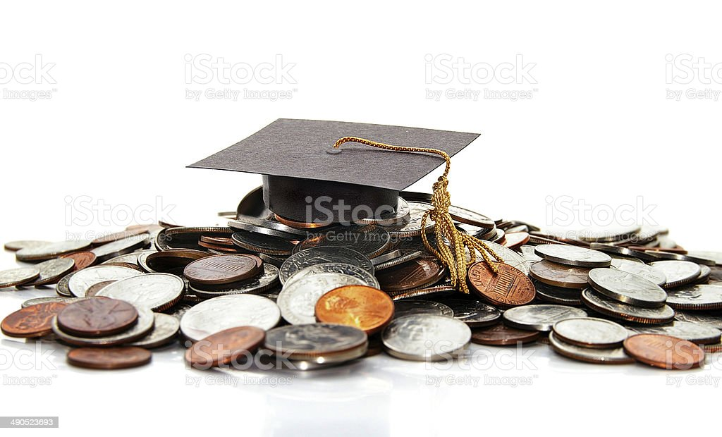 Grad cap stock photo