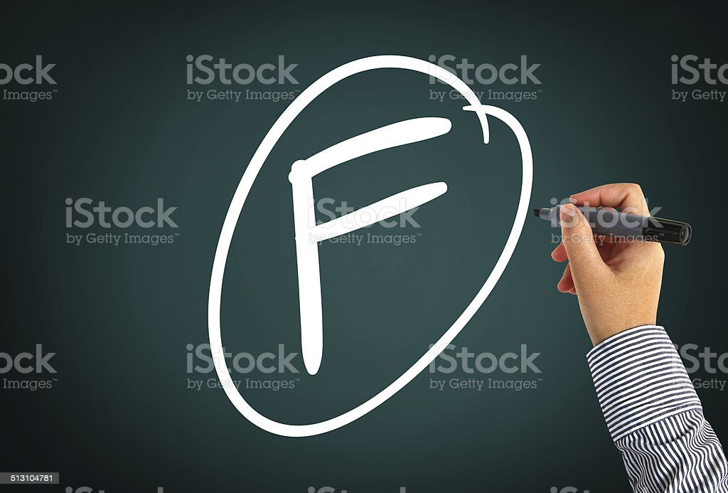 Grade F stock photo