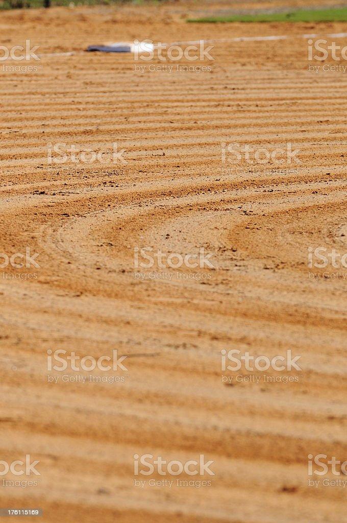 Graded baseball field royalty-free stock photo