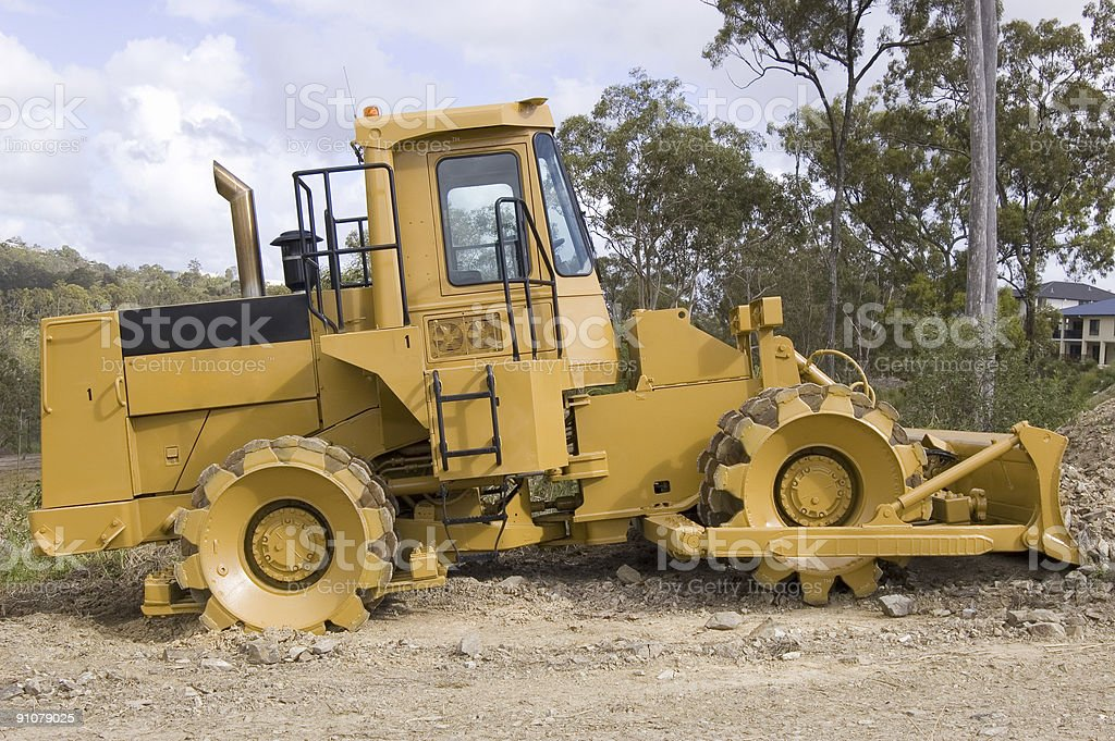 Grader - Earth moving machinery stock photo